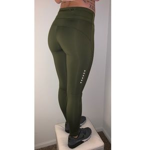 2fdba8f434890 Nike Pants | Epic Lux Running Tights In Olive Green | Poshmark
